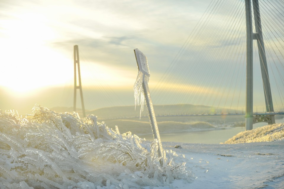 Ледяной шторм во Владивостоке