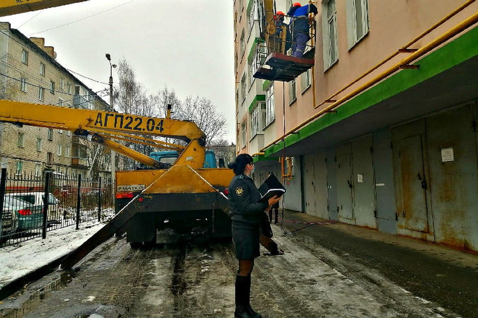Подачу газа в квартиру перекрыли. ФОТО: УФССП по Ярославской области