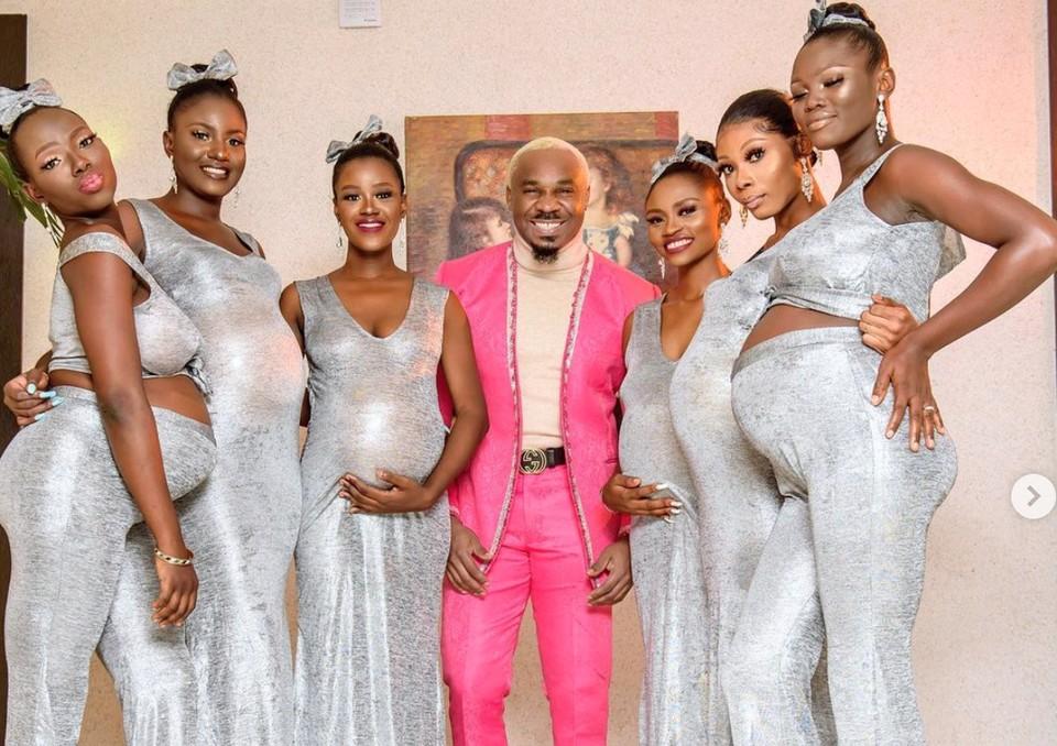 Бизнесмен из Нигерии привел на свадьбу шесть беременных от него подруг. Фото: Instagram/ prettymikeoflagos.