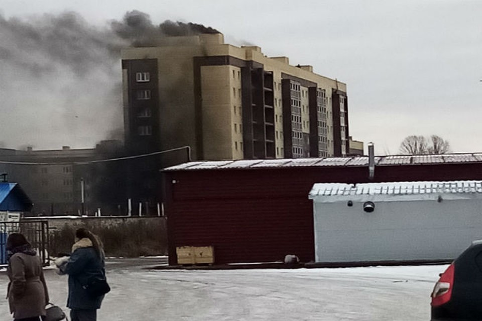 """Возгорание на первом этаже. ФОТО: группа """"Подслушано в Ярославле"""" ВКонтакте"""