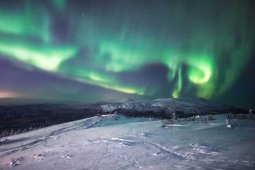Северное сияние в России: вся палитра красок в зимнем небе