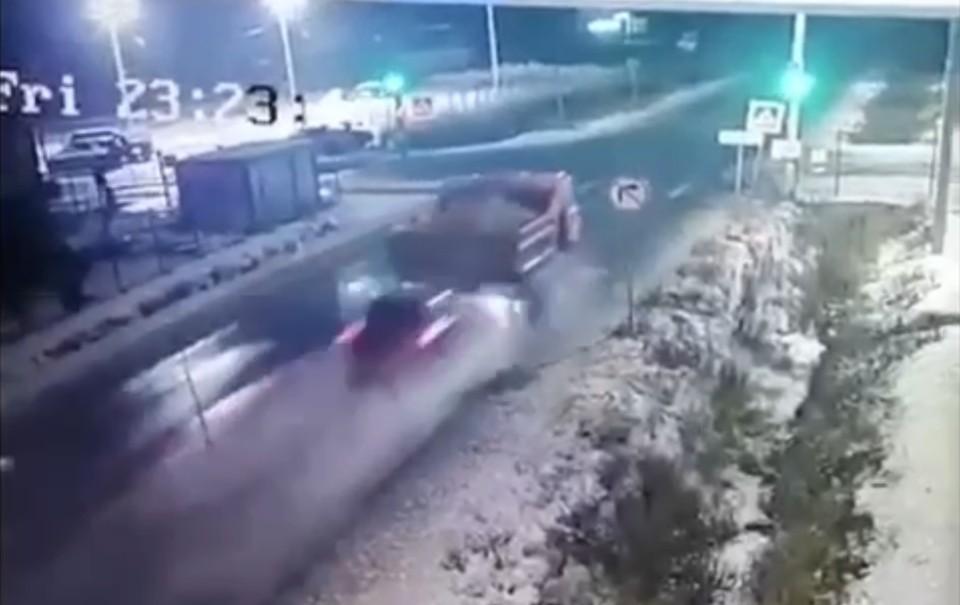 Кадр с видео с камер наблюдения.
