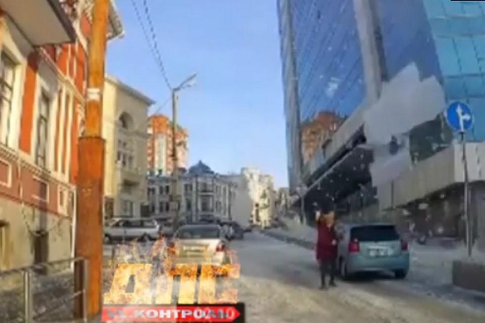 ЧП случилось 21 ноября в центре Владивостока. Фото: @dps.control