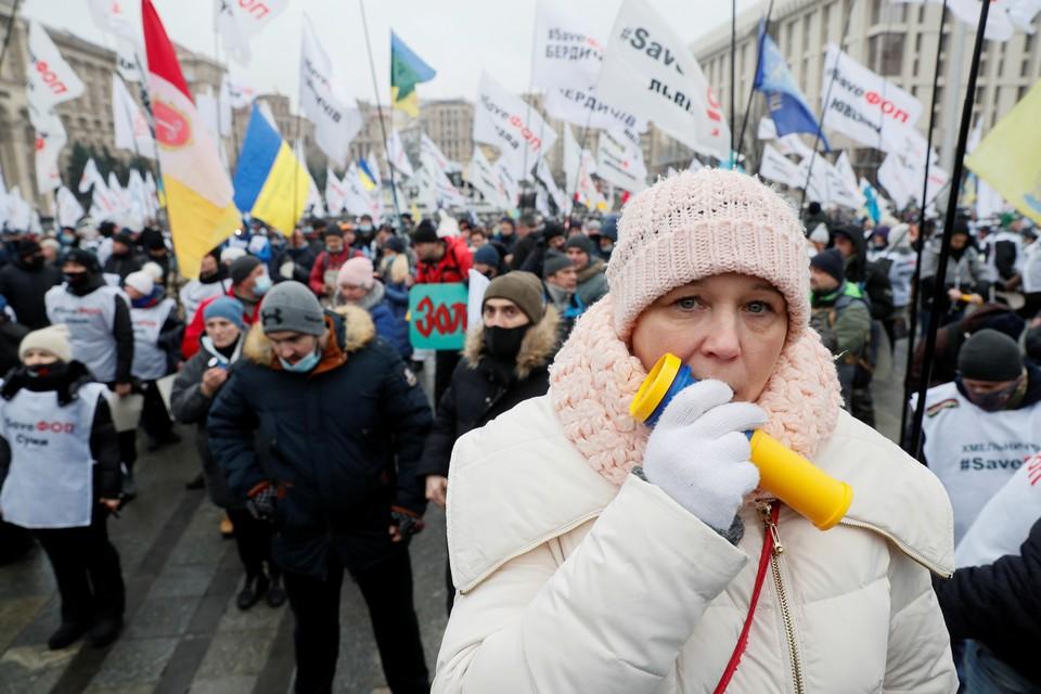 15 декабря, шествие предпринимателей в Киеве, добивающихся господдержки и снятия ограничений на деятельность, введенных на фоне пандемии.