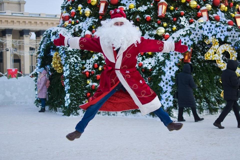 Год в Новосибирске начинается с мороза.