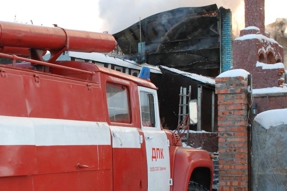 В кузбасском селе произошел пожар