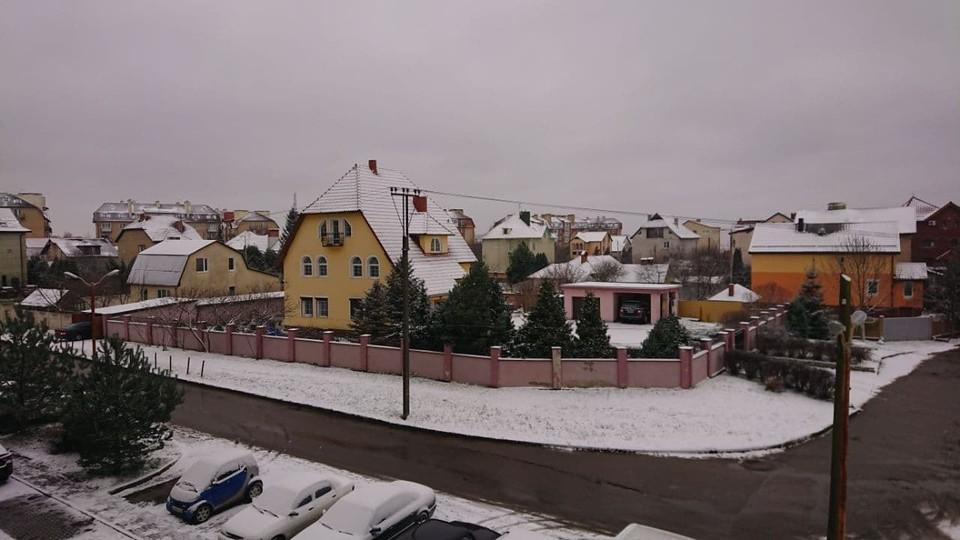 Снег в Гурьевске.