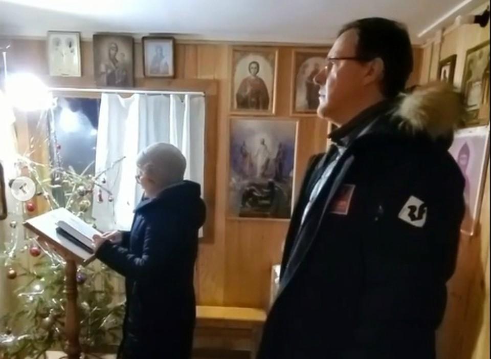 Глава региона поделился видео из маленького сельского храма