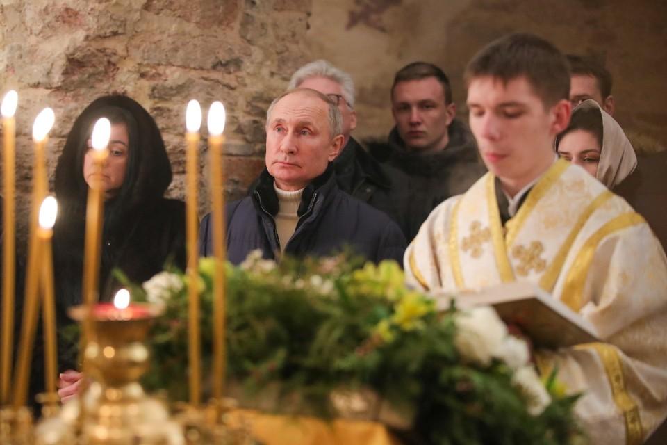 Владимир Путин встретил Рождество в Новгородской области