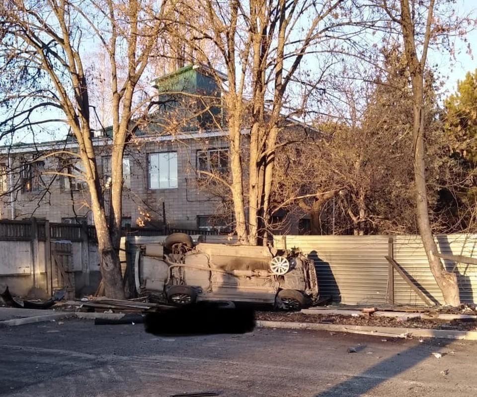 Водитель погиб на месте аварии. Фото: vk/Автопартнер Крым Севастополь