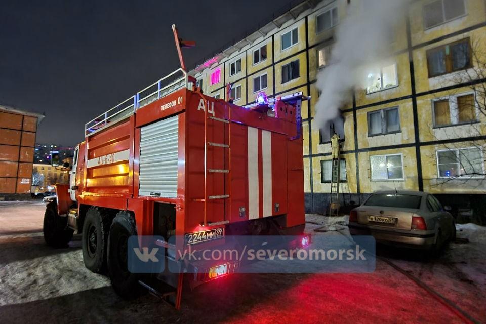 Обошлось без пострадавших. Фото: vk.com/severomorsk