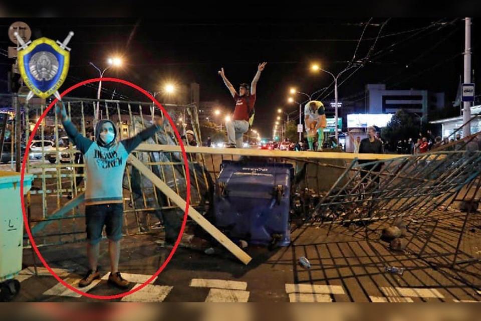 «Бросил растительность с клумбы в сотрудников ОВД»: задержан очередной участник протестов. Фото: СК РБ.