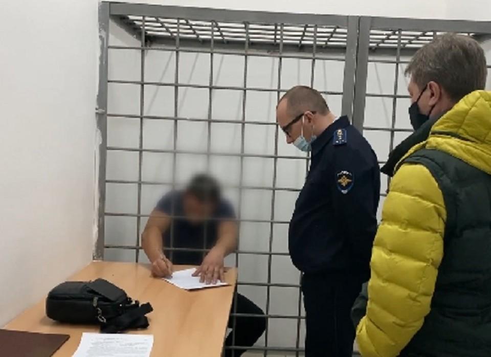 Мужчину посадили под арест на все время следствия. Фото: пресс-служба ГУ МВД по Краснодарскому краю
