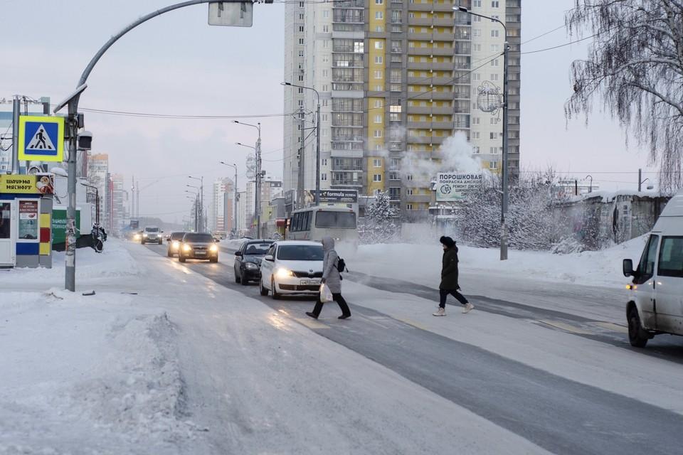 Пробки в Челябинске оценивают в 8 баллов. Фото: Кирилл Садыков
