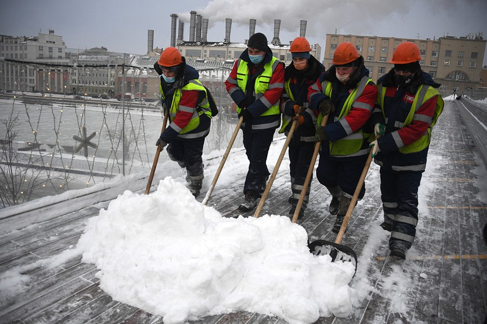 Всего в январе в Москве утилизировано уже свыше 1 миллиона кубометров снега.