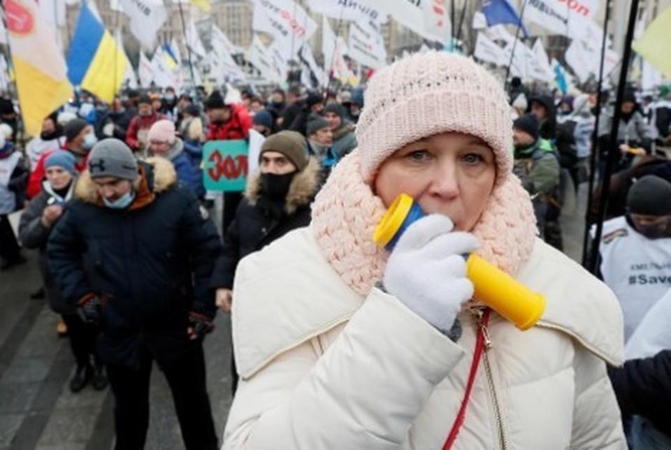 В Житомире протестующие против роста тарифов на