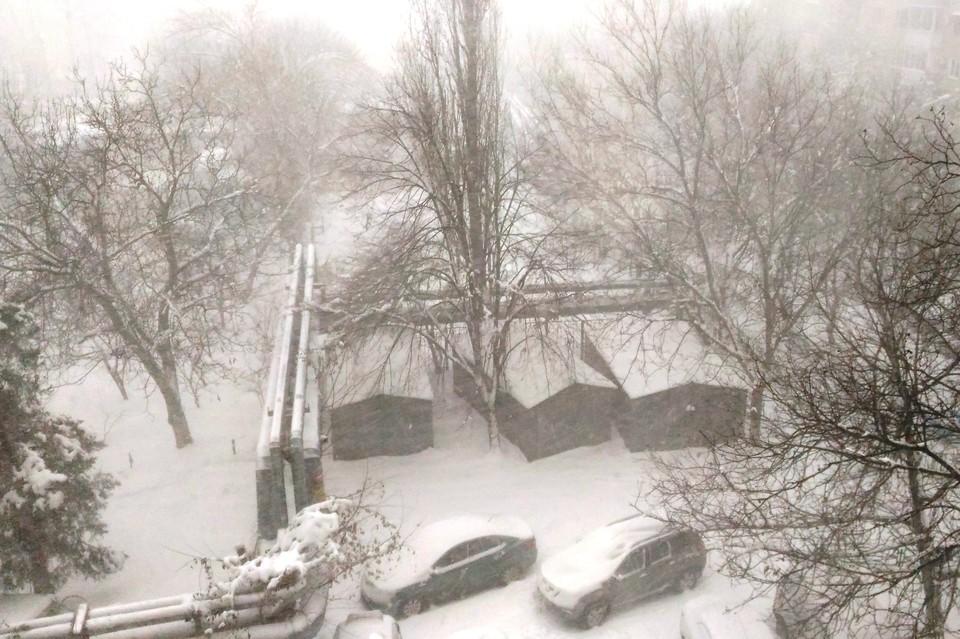 Снежный апокалипсис в Краснодаре.