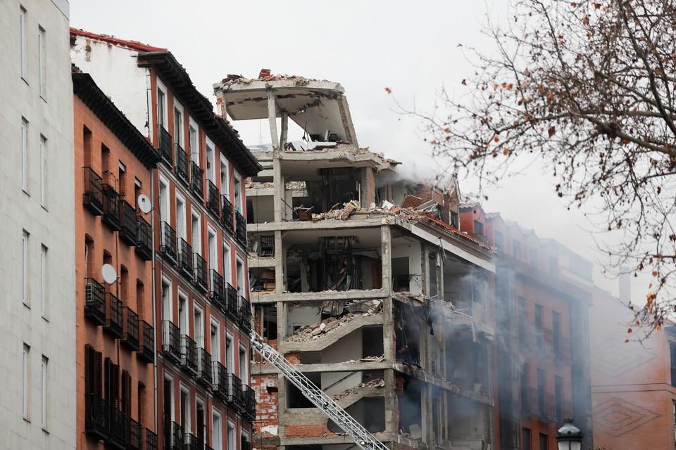 Взрыв в центре Мадрида: есть погибшие и пострадавшие, снесено четыре этажа дома