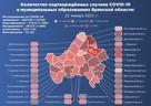 Карта распространения коронавируса в Брянской области на 22 января 2021 года