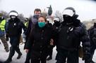 На несанкционированном митинге в Санкт-Петербурге 23 января 2021 года начались задержания