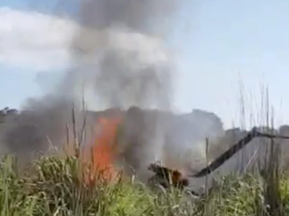 В Бразилии после крушения самолета погибли шесть человек. Фото: Скриншот видео.