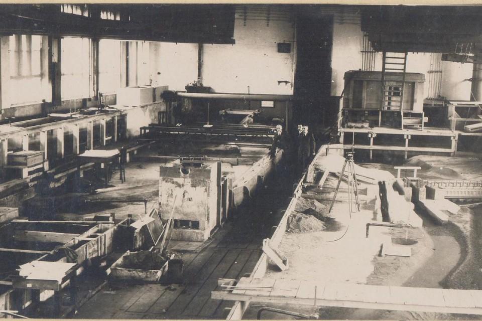 Состояние гидротехнической лаборатории, 1947 г. Фото предоставлено ВНИИГ.