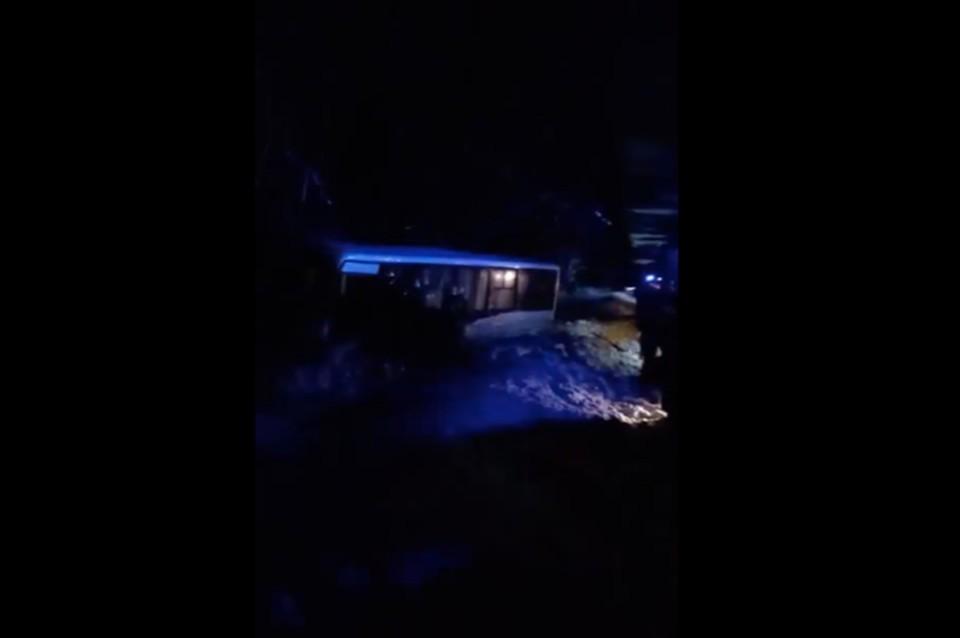 В Марий Эл рейсовый автобус улетел в кювет после столкновения с грейдером