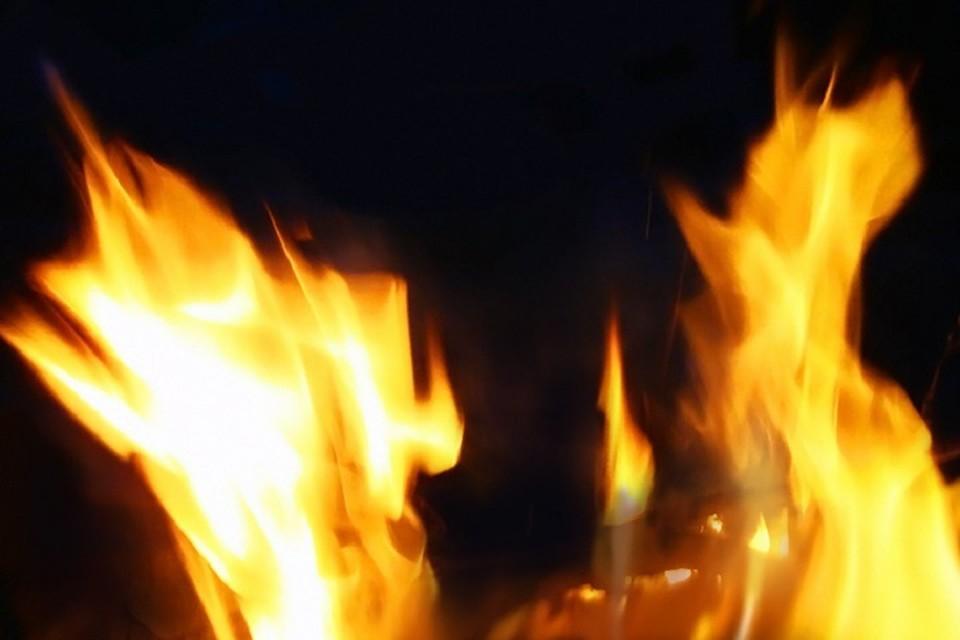 Общая площадь пожара составила два квадратных метра.