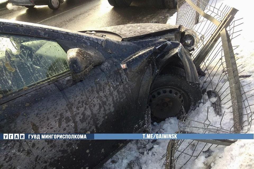 """Вот что произошло с """"Опелем"""", который столкнулся с МАЗом. Фото: ГАИ."""