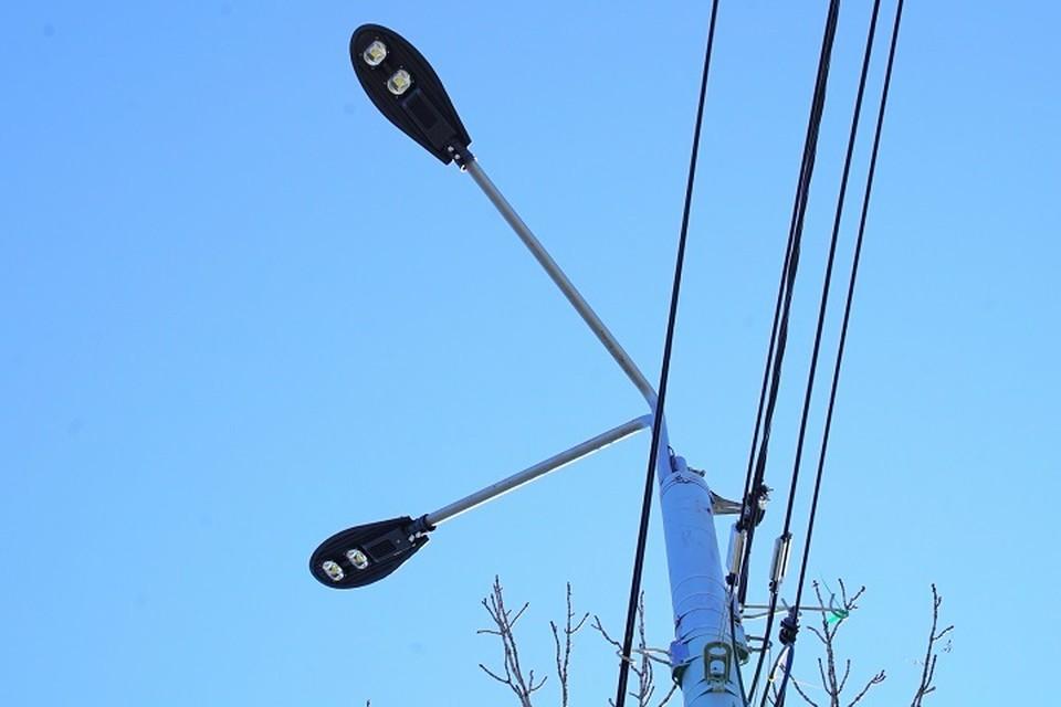 На улицах Хабаровска устанавливают освещение