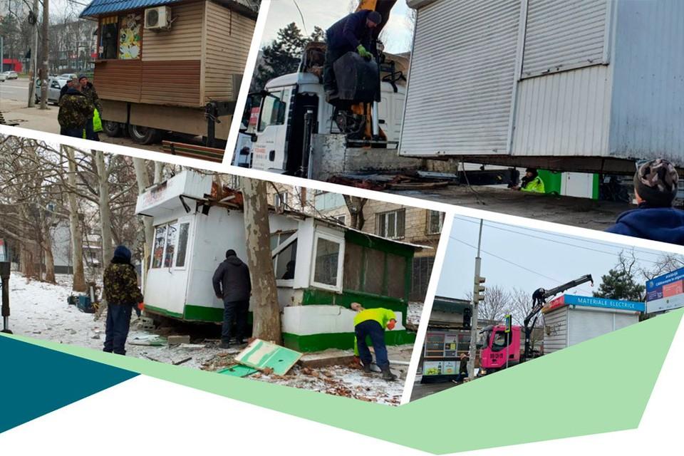 В 2019 году – 353 киоска и 457 рекламных панно, в 2020 году – 598 киосков и 1428 рекламных панно было убрано с улиц столицы. Фото:ionceban.md