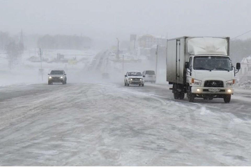 МЧС: сильный ветер и снегопад ожидаются в Иркутской области 17 февраля