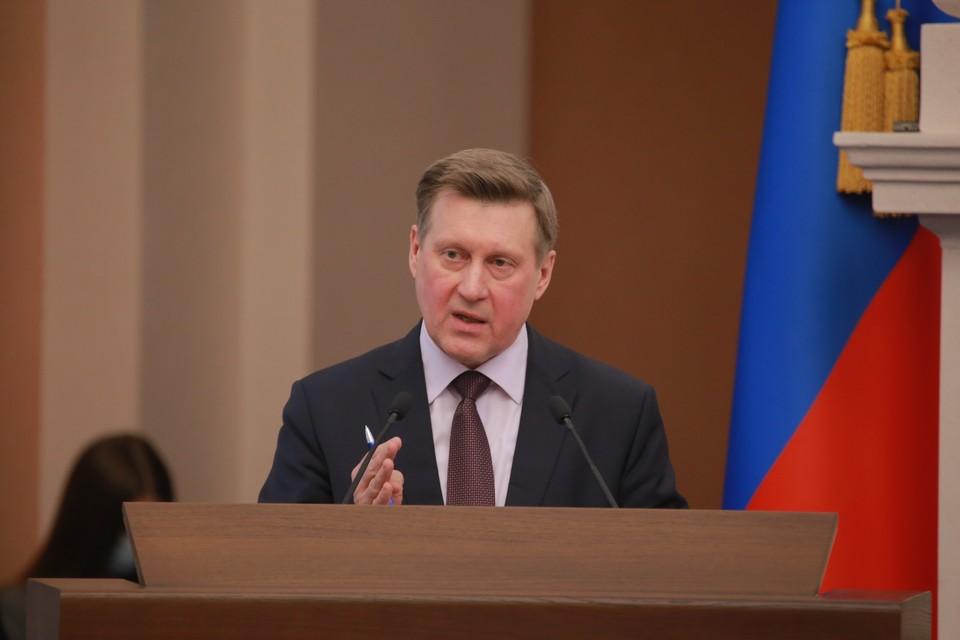 Анатолий Локоть выступил с отчетом.Фото: предоставлено мэрией Новосибирска.