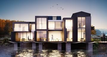 С панорамными окнами и пляжем: под Челябинском построят дома на воде