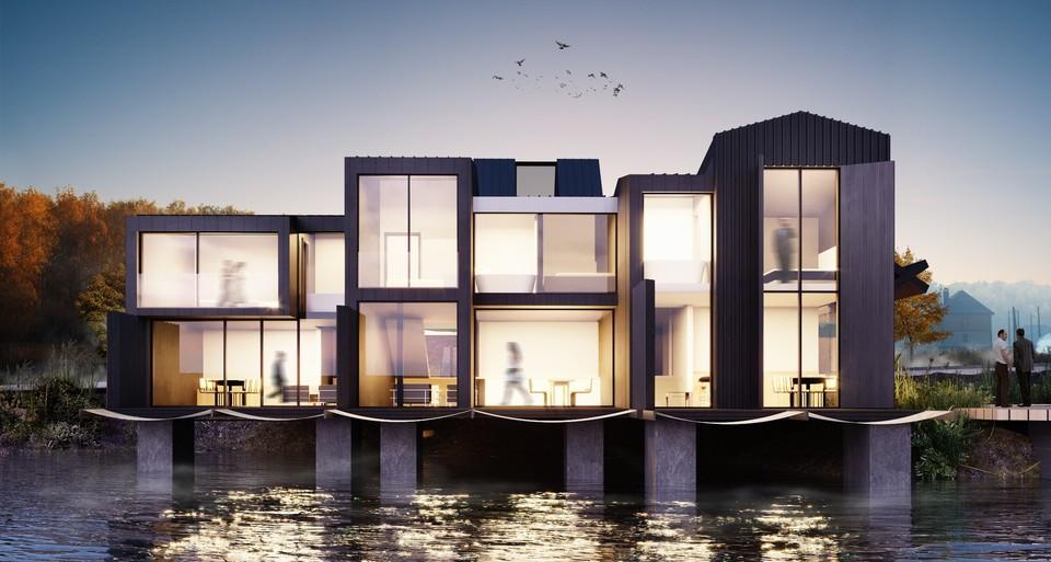 Дома будут стоять на сваях. Фото: Development Pro/facebook.com