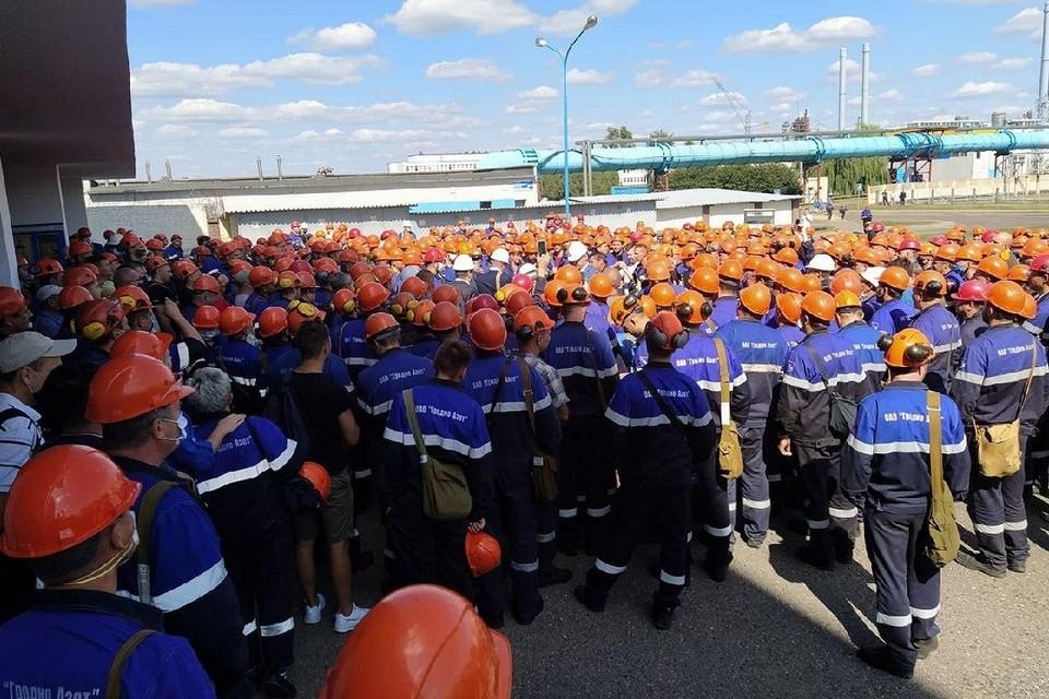 """Руководителям """"Гродно Азота"""" пришли сообщения с призывами присоединиться к забастовке в августе 2020 года. Фото: архив hrodna.life."""