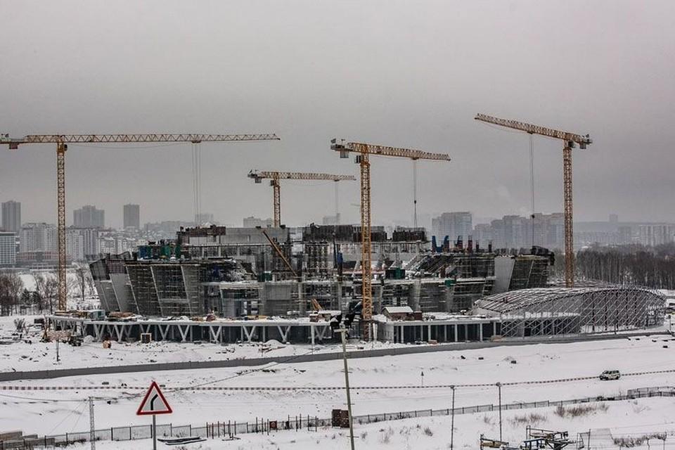 Стадион и станция метро «Спортивная» готовы на четверть. Фото: Валерия Панов