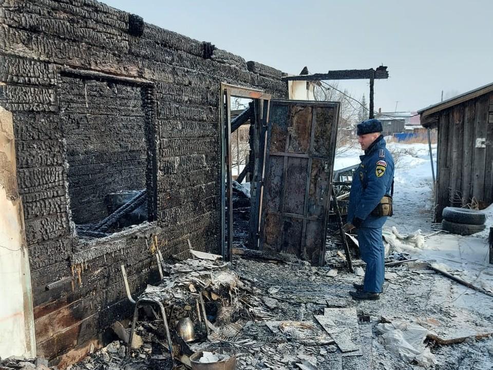 При пожаре в частном доме погиб ребенок