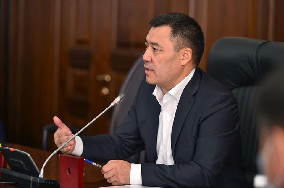 Садыр Жапаров направил поздравительное обращение по случаю празднования 23 февраля.
