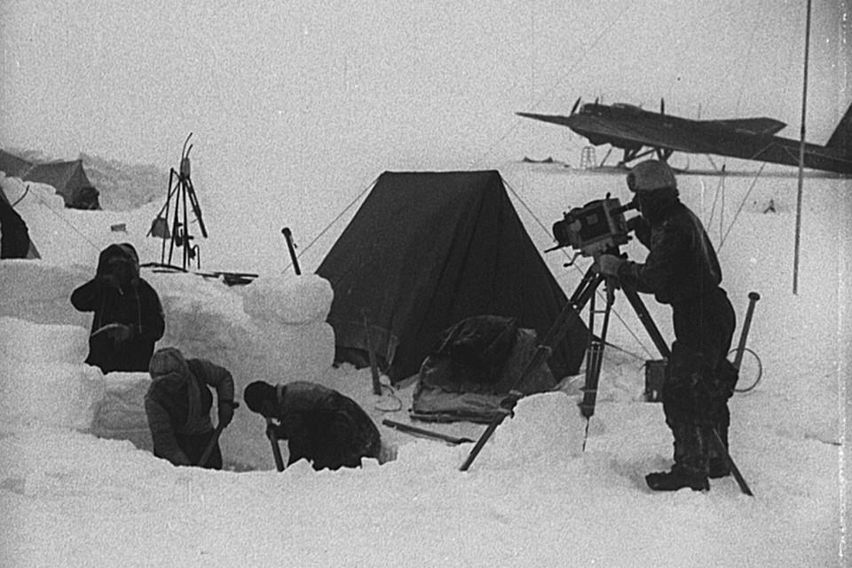 """«На Северном полюсе» (1937). Фото: предоставлено """"Енисей кино"""""""