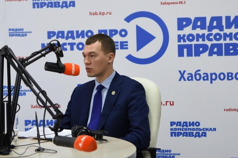Врио губернатора Хабаровского края Михаил Дегтярев. Фото: Владлена ТЕРЯЕВА