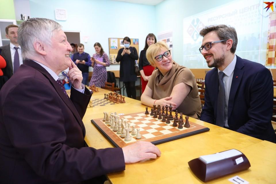 Анатолий Карпов, Михаил Хомич и Анастасия Власова