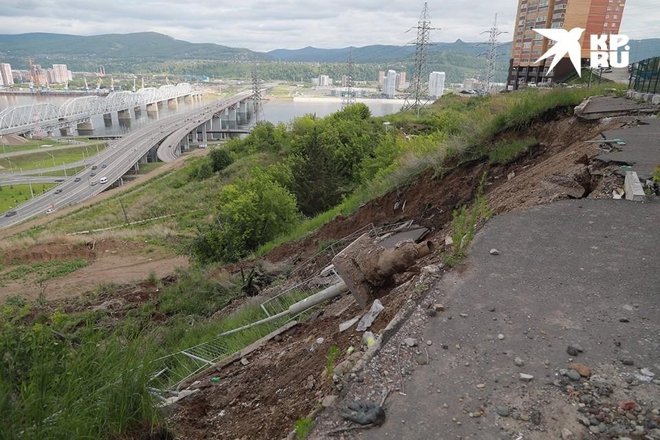 В Красноярске в обрушении склона обвиняют экс-чиновника Стройнадзора