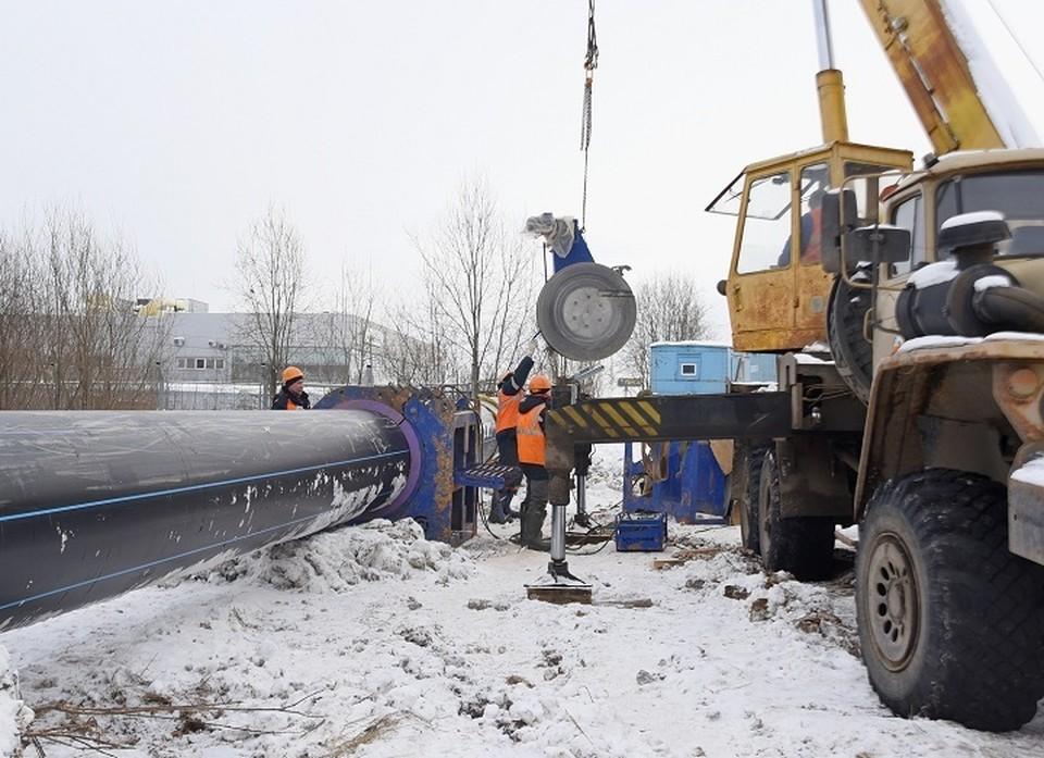 Второй этап строительства - это 5 километров трубопровода
