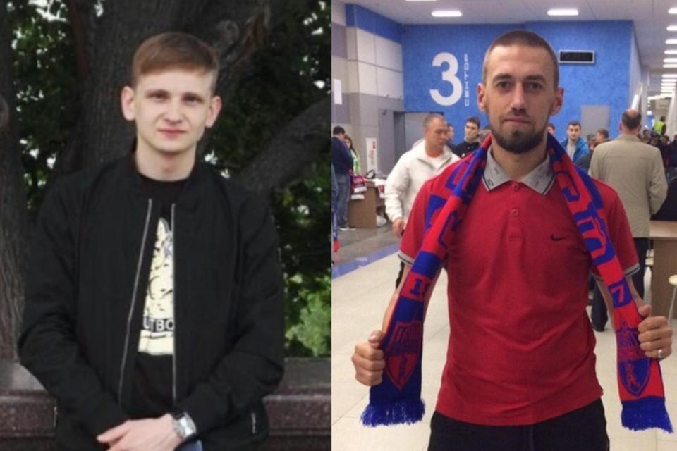 Новосибирец (слева) не добивал упавшего красноярца (справа). Фото: личный архив / соцсети