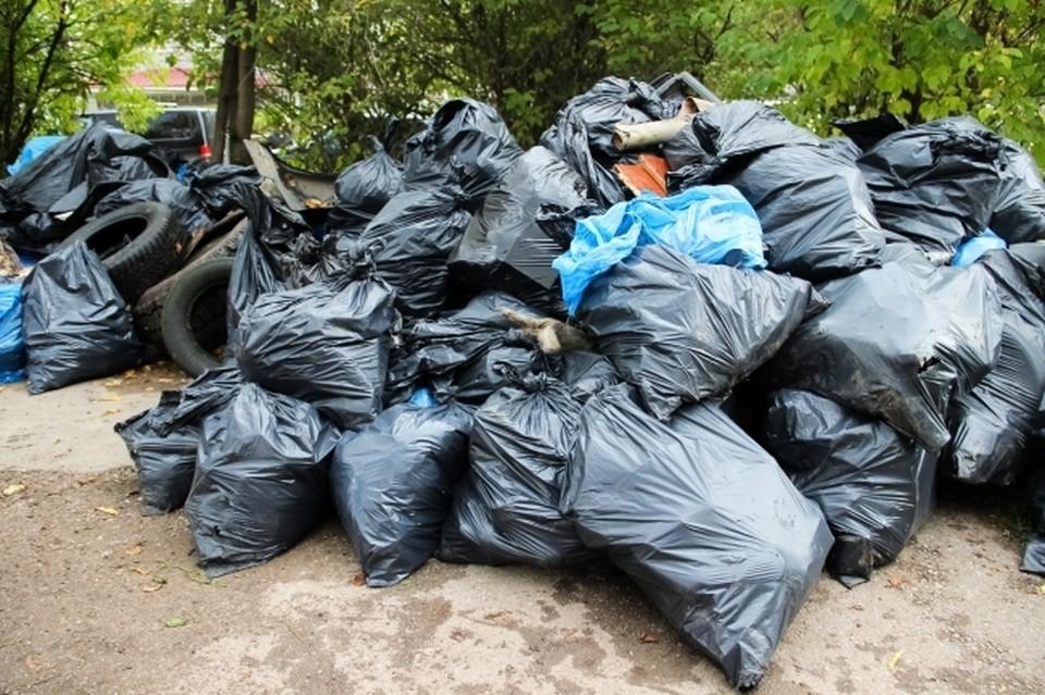 На площадке постоянно скапливаются горы мусора.