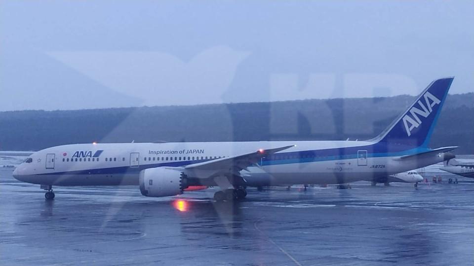 Японский боинг, приземлившийся в Красноярске