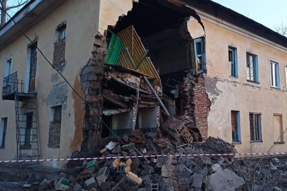 В Канске в жилом доме обрушилась стена. Фото: прокуратура Красноярского края