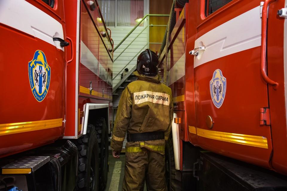 Пожар бушует на площади 5 тысяч квадратных метров