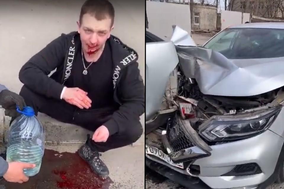Рэпер Yung Trappa попал в серьезное ДТП в Петербурге. Фото: СОЦСЕТИ